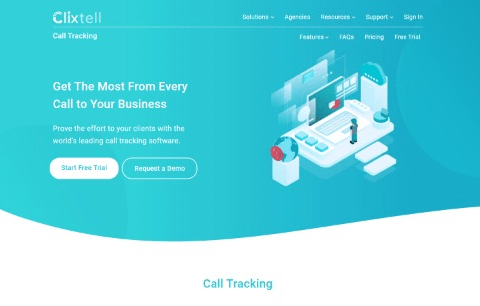 Clixtell Call Tracking