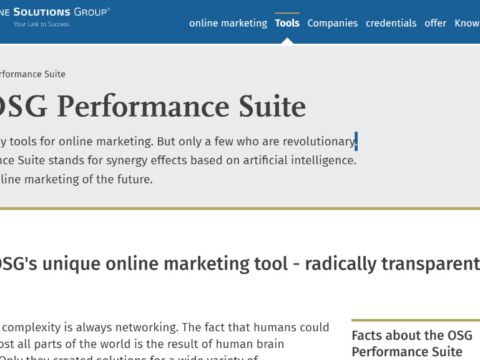 OSG – Online Marketing Tool