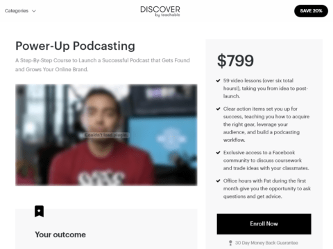 Power-Up Podcasting – A Step-By-Step Course to Launch a Successful Podcast that Gets Found and Grows Your Online Brand.