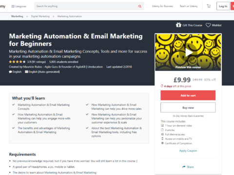 Marketing Automation & Email Marketing for Beginners