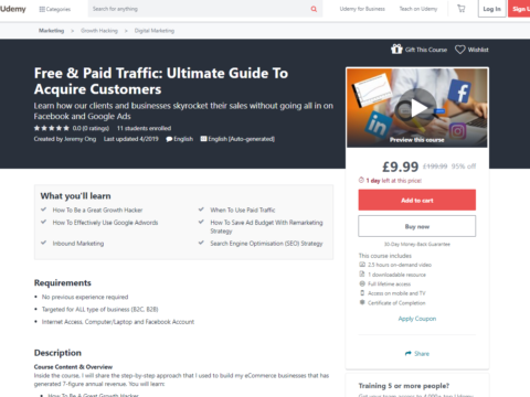 Free & Paid Traffic: Ultimate Guide To Acquire Customers