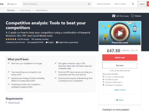 Competitive analysis: Tools to beat your competitors