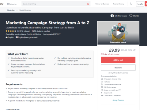 Marketing Campaign Strategy from A to Z