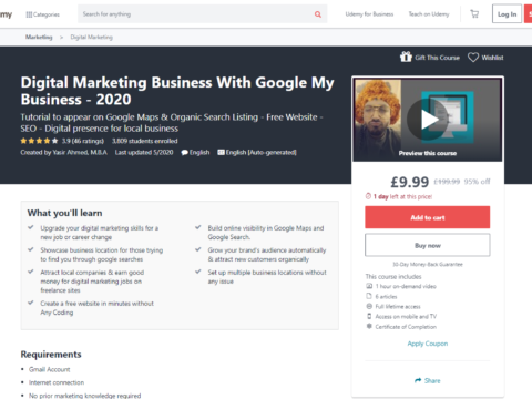 Digital Marketing Business With Google My Business – 2020