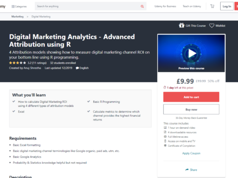 Digital Marketing Analytics – Advanced Attribution using R