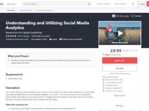 Understanding and Utilizing Social Media Analytics