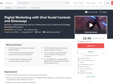 Digital Marketing with Viral Social Contests and Giveaways
