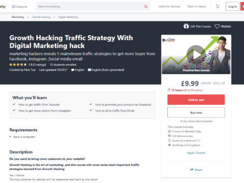 Growth Hacking Traffic Strategy With Digital Marketing hack
