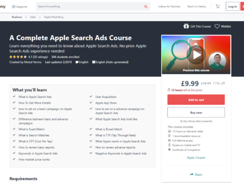 A Complete Apple Search Ads Course