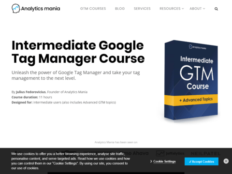 Intermediate Google Tag Manager Course