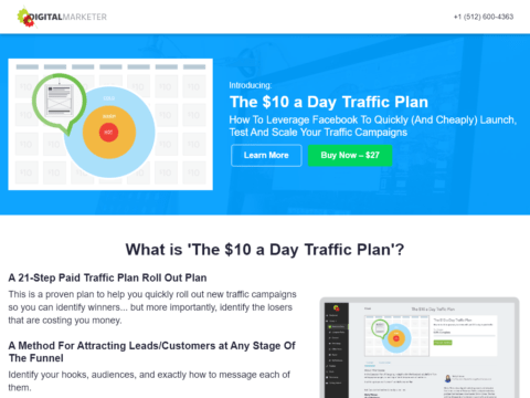 The $10 a Day Traffic Plan