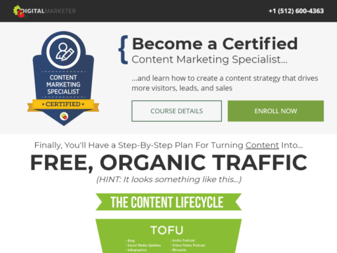Become a Certified Content Marketing Specialist