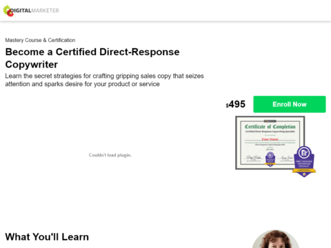 Become a Certified Direct-Response Copywriter