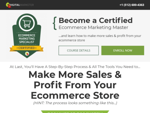 Become a Certified Ecommerce Marketing Master