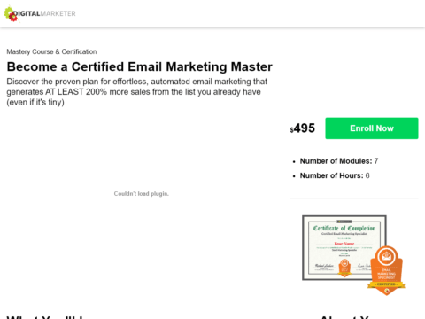 Become a Certified Email Marketing Master