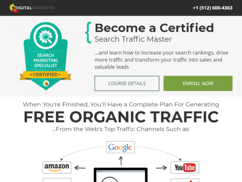 Become a Certified Search Traffic Master
