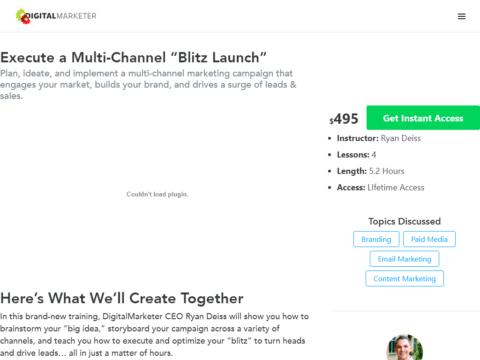 "Execute a Multi-Channel ""Blitz Launch"""