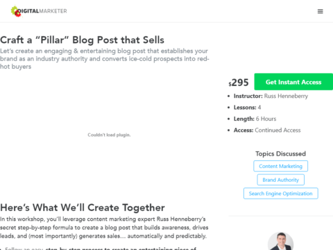 "Craft a ""Pillar"" Blog Post that Sells"