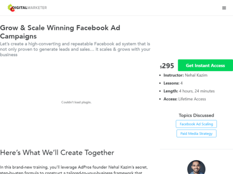 Grow & Scale Winning Facebook Ad Campaigns