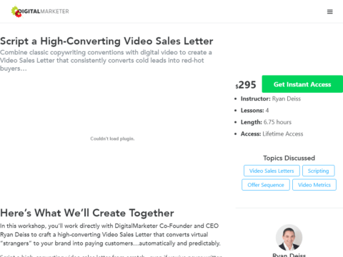Script a High-Converting Video Sales Letter