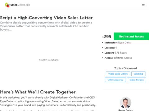 Script a High-Converting Video Sales Letter