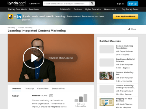 Learning Integrated Content Marketing