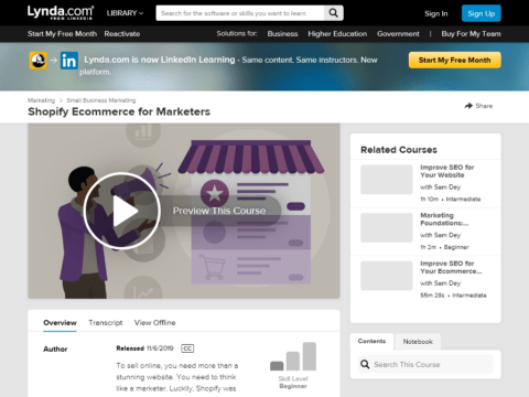 Shopify Ecommerce for Marketers