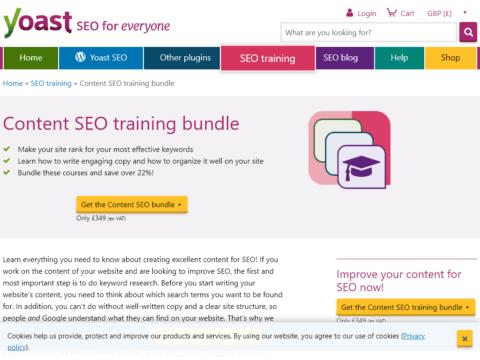 Content SEO training bundle