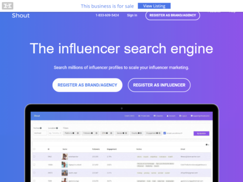 Get Shout – Influencer Search Engine