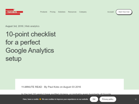 10-point checklist for a perfect Google Analytics setup