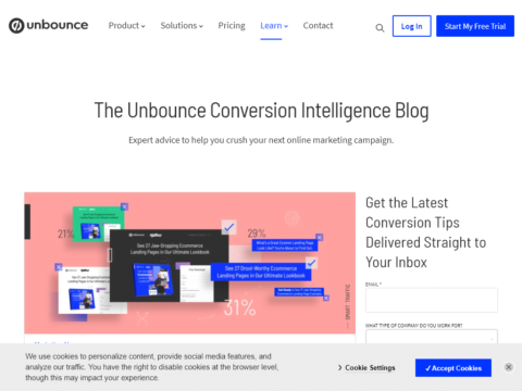 Unbounce Blog and Newsletter