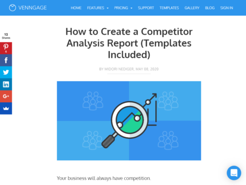 How to Create a Competitor Analysis Report (Templates Included)