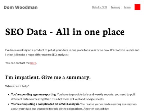 Data for SEO