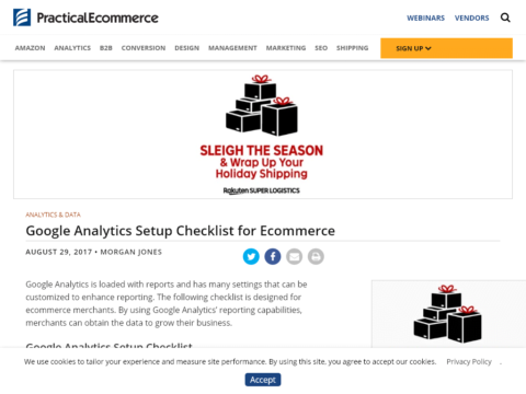 Google Analytics Setup Checklist for Ecommerce