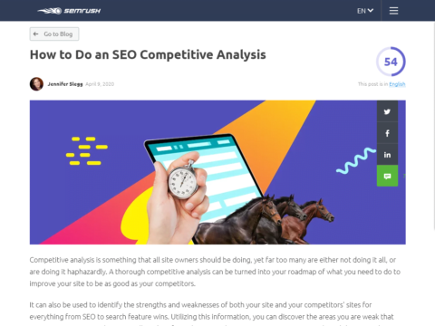 How to Do an SEO Competitive Analysis