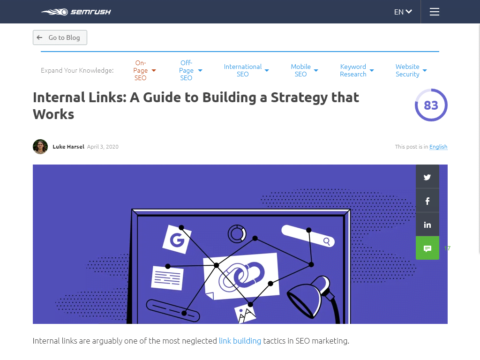 Internal Links: A Guide to Building a Strategy that Works