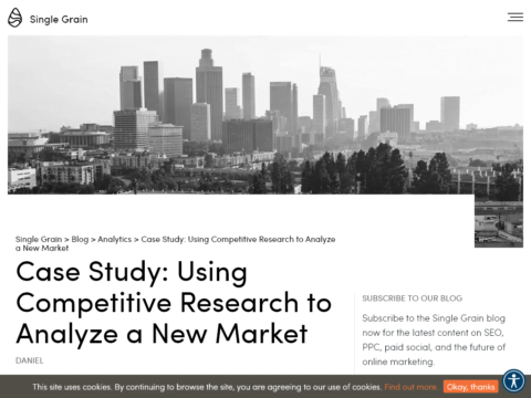 Case Study: Using Competitive Research to Analyze a New Market