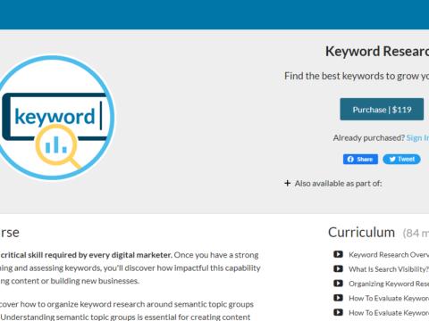 MOZ Keyword Research