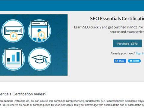 SEO Essentials Certificate (Series)
