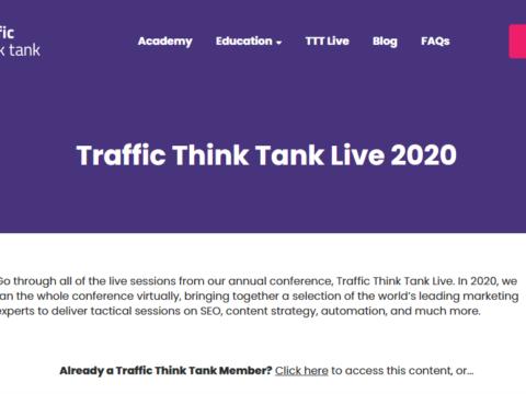 Traffic Think Tank Live 2020