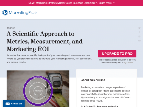 A Scientific Approach to Metrics, Measurement, and Marketing ROI