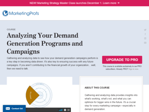 Analyzing Your Demand Generation Programs and Campaigns