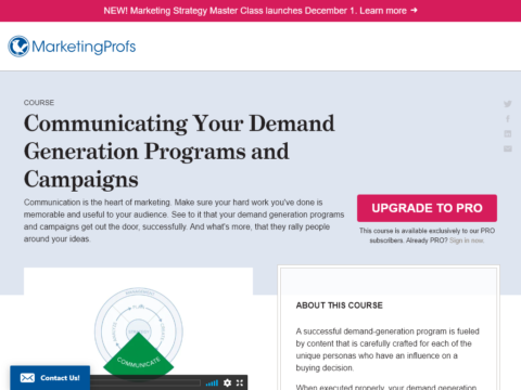 Communicating Your Demand Generation Programs and Campaigns