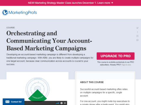 Orchestrating and Communicating Your Account-Based Marketing Campaigns