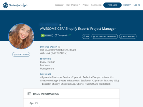 AWESOME CSR/ Shopify Expert/ Project Manager