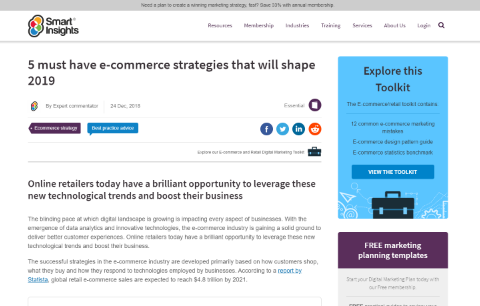 5 must-have e-commerce strategies that will shape 2019