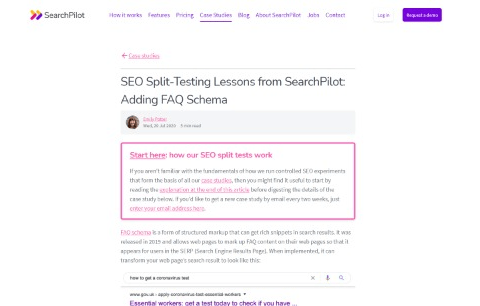 Adding FAQ Schema SEO Split Testing Lessons from SearchPilot