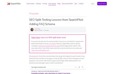 Adding FAQ Schema SEO Split Testing Lessons from SearchPilot