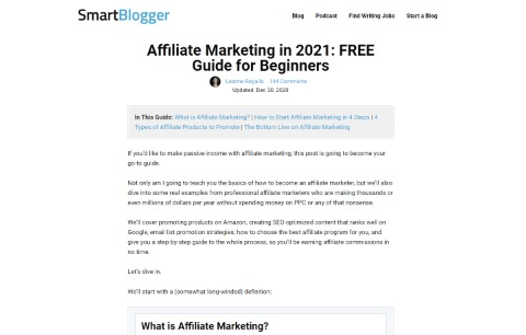 Affiliate Marketing in 2021 FREE Guide for Beginners
