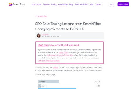 Changing microdata to JSON+LD SEO Split Testing Lessons From SearchPilot